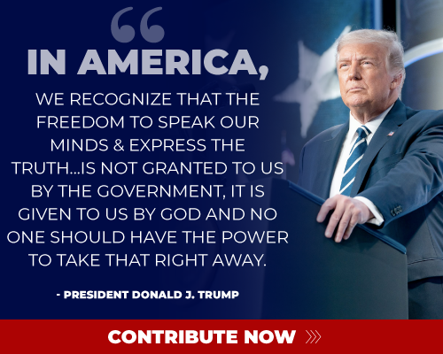 In America, we recongnize that the freedom to speak our minds & express the truth...is not granted to us by the government, it is given to us by god and no one should have the power to take that right away.